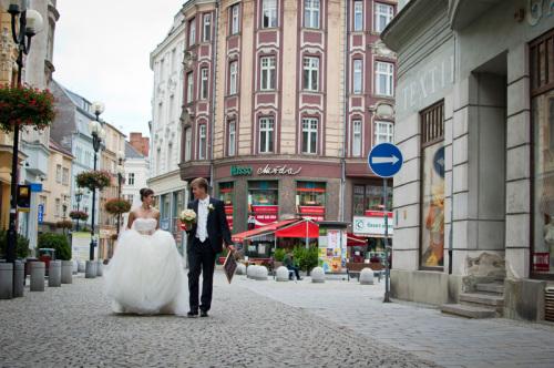 Příklad svatební fotky ve městě
